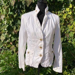 J. CREW Raw Edge Linen Jacket, M
